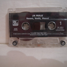 Vand caseta audio Ja Rule-Venni, Vetti, Vecci, originala, raritate!-fara coperta! - Muzica Hip Hop universal records, Casete audio