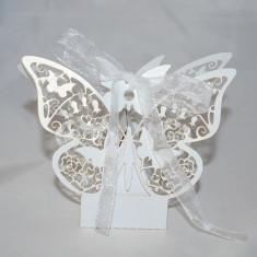 Marturie nunta/botez  Cutiuta cadou carton sidefat, marturii cutie cutii