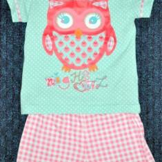 Noua! Pijama de vara bufnita, marca FF, fetite 18-24 luni/ 92 cm, Culoare: Multicolor, Fete