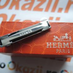 AC de cravata Hermes cod 736, Culoare: Argintiu