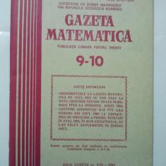 GAZETA DE MATEMATICA - LOT ANUL 1982 NUMERELELE 9 - 10 + 11 + 12