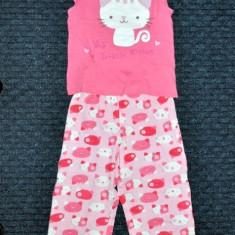Noua! Pijama de vara cu pisicute, marca FF, fetite 18-24 luni/ 92 cm, Culoare: Multicolor, Fete