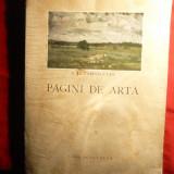 K.H.Zambaccian - Pagini de Arta - Ed. Casa Scoalelor 1943, cu planse color, alb-negru si text