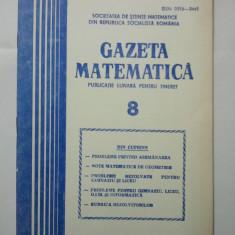 GAZETA DE MATEMATICA - LOT ANUL 1981 NUMERELELE 8 + 9 + 10 + 11 + 12