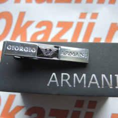 Ac de cravata Armani cod 738, Argintiu