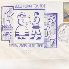 bnk cp Plic ocazional Zilele culturii toplitene - Toplita 1980