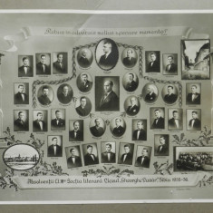 Fotografie veche E. Fischer Absolventii Liceului Gh. Lazar Sibiu 1935 - 36