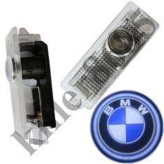 Proiector 3D Logo portiera BMW E60, E61, E65, E68, X5 cu LED CanBus - Logo Marca