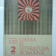 REVISTA LIMBA SI LITERATURA ROMANA - ANUL 1989 NUMARUL 2