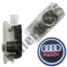 Proiector 3D Logo portiera Audi Q7, Q5, A4, A5 cu LED CanBus - Logo Marca