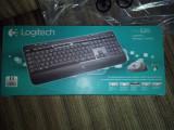 Kit Tastatura + Mouse Logitech Cordless Desktop MK520, Negru