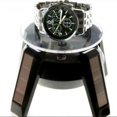 Stand rotativ Suport rotativ ceasuri bijuterii cu Incarcare Solara avand
