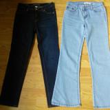 Set doua perechi blugi (noi/ aproape noi),reglabili in talie, pentru fete, marimea 12
