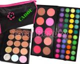 Trusa machiaj profesionala 50 culori cu blush Frauein38 + 15 Concealer + CADOU, Fraulein38