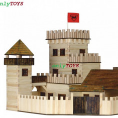 Set case casute traditionale din lemn CASTEL jucarie eco walachia castle wood