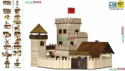 Set case casute traditionale din lemn CASTEL jucarie eco walachia castle wood foto
