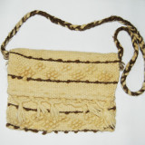 Straita, model deosebit, din lana, 39x30 cm, rustic, etno, traditional (geanta, poseta rustica), traista,