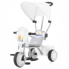 Tricicleta cu Copertina Spring White - Tricicleta copii Chipolino