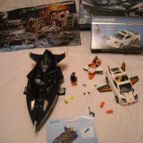 Playmobil 4882 + 4876 - Robo Gangster Stealth Yacht and Agent's car - Vehicul