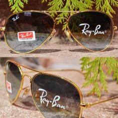 Ochelari RAY BAN de soare aviator - Ochelari de soare Ray Ban, Unisex, Maro, Pilot, Plastic