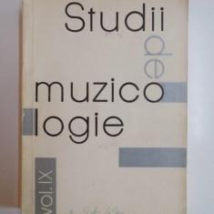STUDII DE MUZICOLOGIE, COORDONATOR FLORIN GEORGESCU VOL.IX 1973 - Muzica Dance
