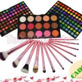 Trusa Machiaj 183 culori cu blush Fraulein38 + 12 pensule machiaj + CADOU