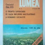REVISTA LUMEA - SAPTAMANAL DE POLITICA EXTERNA { NUMARUL 8 ANUL 1971 }