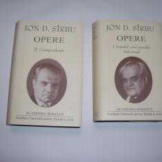 ION D SIRBU CORESPONDENTA/JURNALUL UNUI JURNALIST FARA JURNAL OPERE 2 VOL