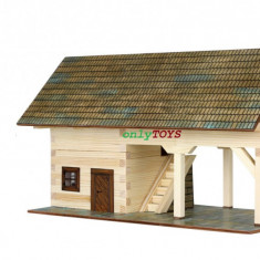 Set de construit case casute din lemn SOPRON jucarie eco walachia shed lego wood - Set de constructie Walachia, 8-10 ani, Unisex