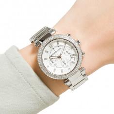 Ceas de dama Michael Kors Silver Chronograph Ladies Watch MK5353, Casual, Quartz, Inox, Michael Kors
