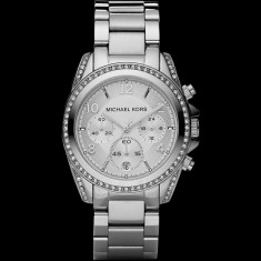 Ceas de dama Michael Kors Ladies Chronograph White Crystal MK5165, Casual, Quartz, Inox