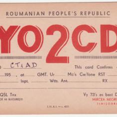 CARTE POSTALA DE RADIOAMATOR - ROUMANIAN PEOPLE'S REPUBLIC - Carte postala tematica, Circulata
