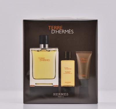 Parfum Hermes Terre D Hermes Set 75 Ml Parfum 40 Ml Gel Dus 15
