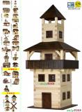 Casute din barne din lemn de pin- TURNUL (jucarie eco walachia tower lego wood)