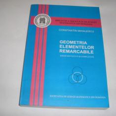 GEOMETRIA ELEMENTELOR REMARCABILE,2007 SSMR