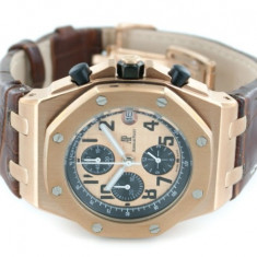 Audemars Piguet Royal Oak Offshore Redgold Leather Brown - calitate maxima ! - Ceas barbatesc Audemars Piguet, Casual, Piele, Analog