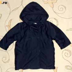Palton gros de iarna bleumarin, marca Crochette, baieti 18 luni