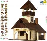 Set casute din lemn Cabana Turistica Popas Turistic eco walachia hiking hut lego, 8-10 ani, Unisex