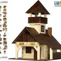 Set casute din lemn Cabana Turistica Popas Turistic eco walachia hiking hut lego - Set de constructie Walachia, 8-10 ani, Unisex