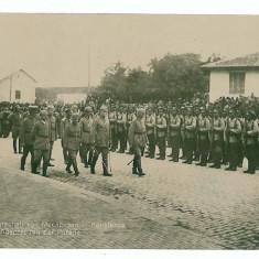 1393 - CONSTANTA, G-lul Mackensen, parade - old postcard, real PHOTO - unused - Carte Postala Dobrogea 1904-1918, Necirculata, Fotografie