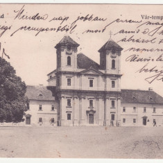 CARTE POSTALA CIRCULATA - ARAD - BISERICA, ANUL 1906, SCRISA SI TIMBRATA - Carte Postala Crisana 1904-1918