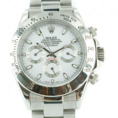 ROLEX DAYTONA STEEL, WHITE DIAL - calitate maxima ! - Ceas barbatesc Rolex, Casual, Mecanic-Automatic, Otel, Inox, Analog