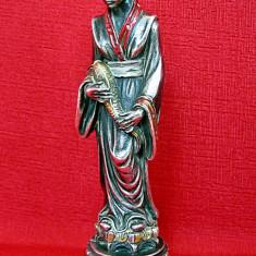 Statueta Japoneza din argint semnata de autor italian anul 1989 originala