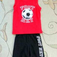 Nou! Pijama 2 piese fotbal, marca NKY, baieti 2 ani/ 86 cm, Culoare: Multicolor