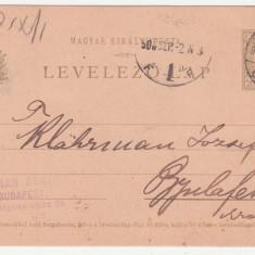 CARTE POSTALA SCRISA IN LIMBA MAGHIARA, ANUL 1908