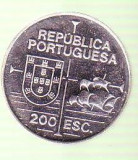 Moneda 200 ESCUDOS 1992 din argint NECIRCULATA
