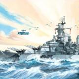 Macheta vapor Revell Battleship USS Missouri - 05092