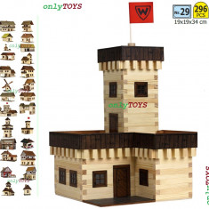 Casuta din lemn - Castelul de vara jucarie eco walachia summer castle lego wood - Set de constructie Walachia, 8-10 ani, Unisex