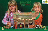Set constructie case casute din lemn Grajdul walachia  Staul pentru animale lego