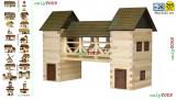 Set constructie casa casuta casute din lemn - POD  bridge walachia log wood lego